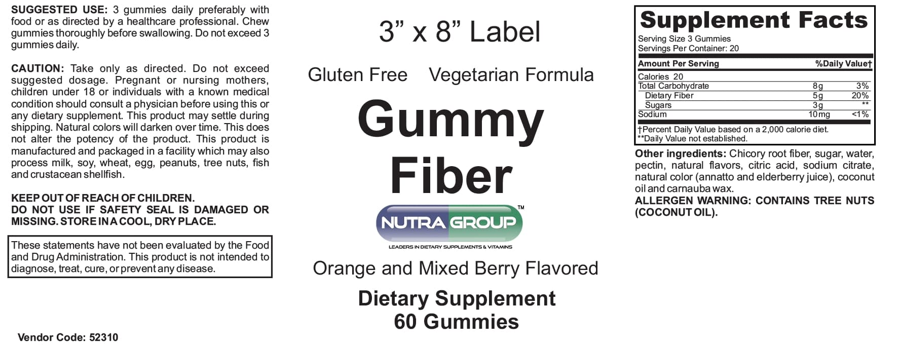 Private label fiber gummies
