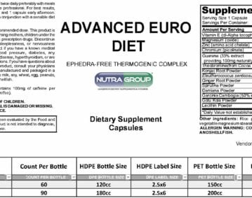 private label advanced euro diet supplement