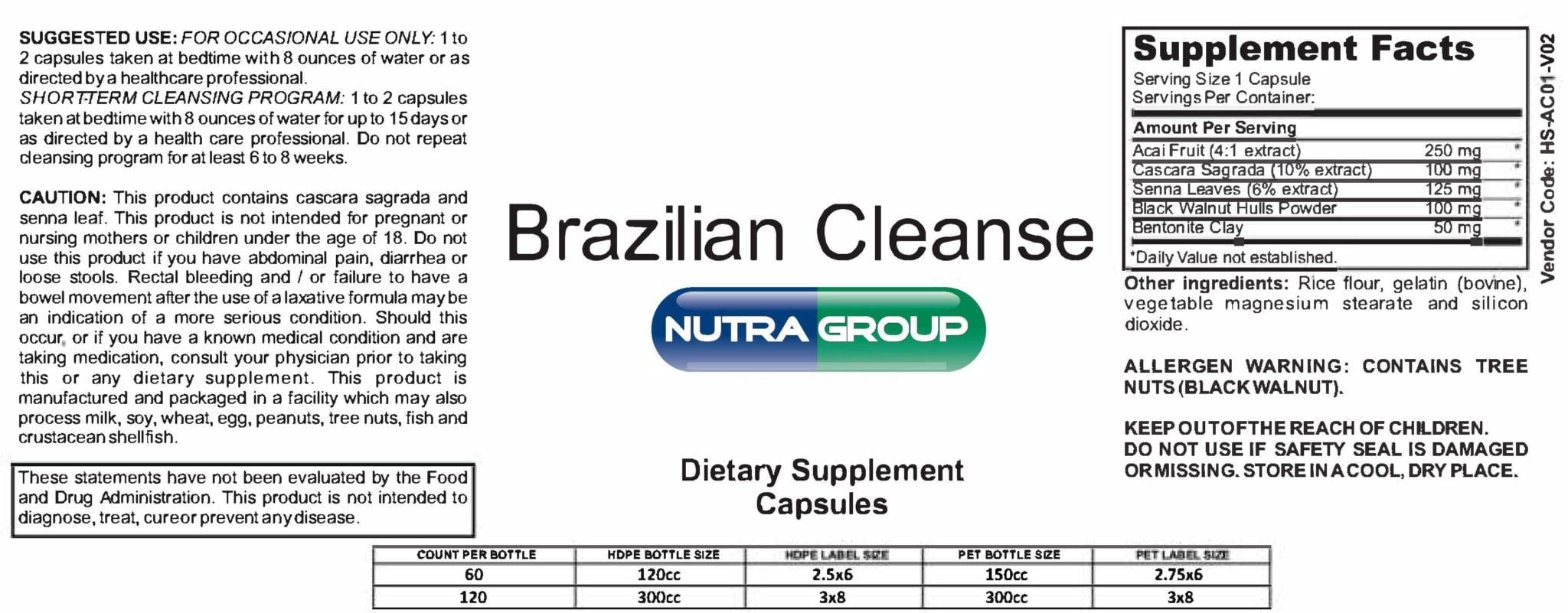 Private Label Brazilian Cleanse with Acai -