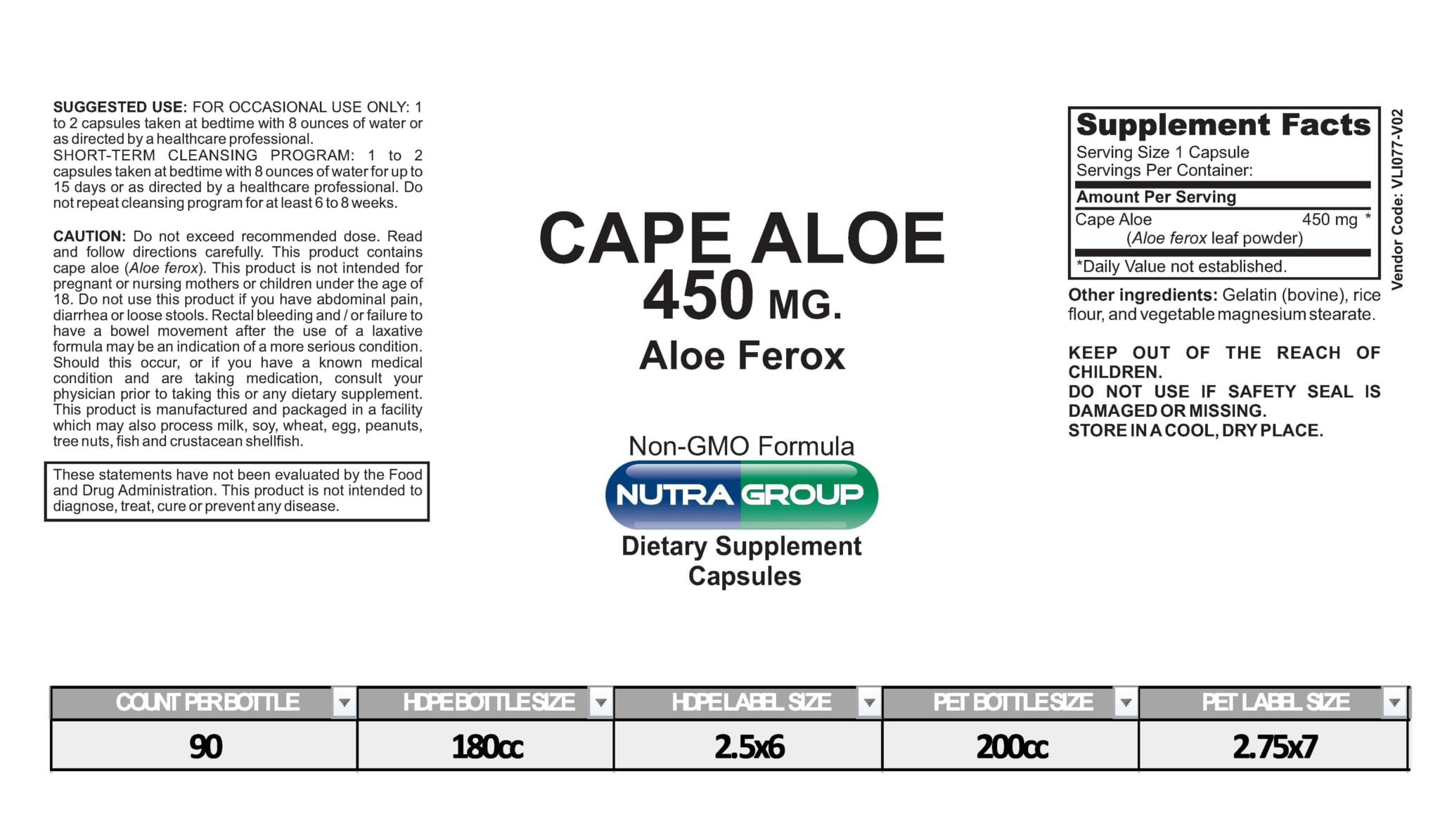 private label cape aloe leaf