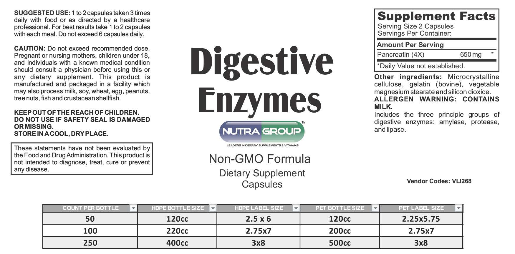 Private label Digestive Enzymes