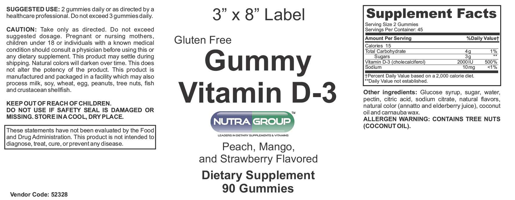 Private label Vitamin D3 Gummy