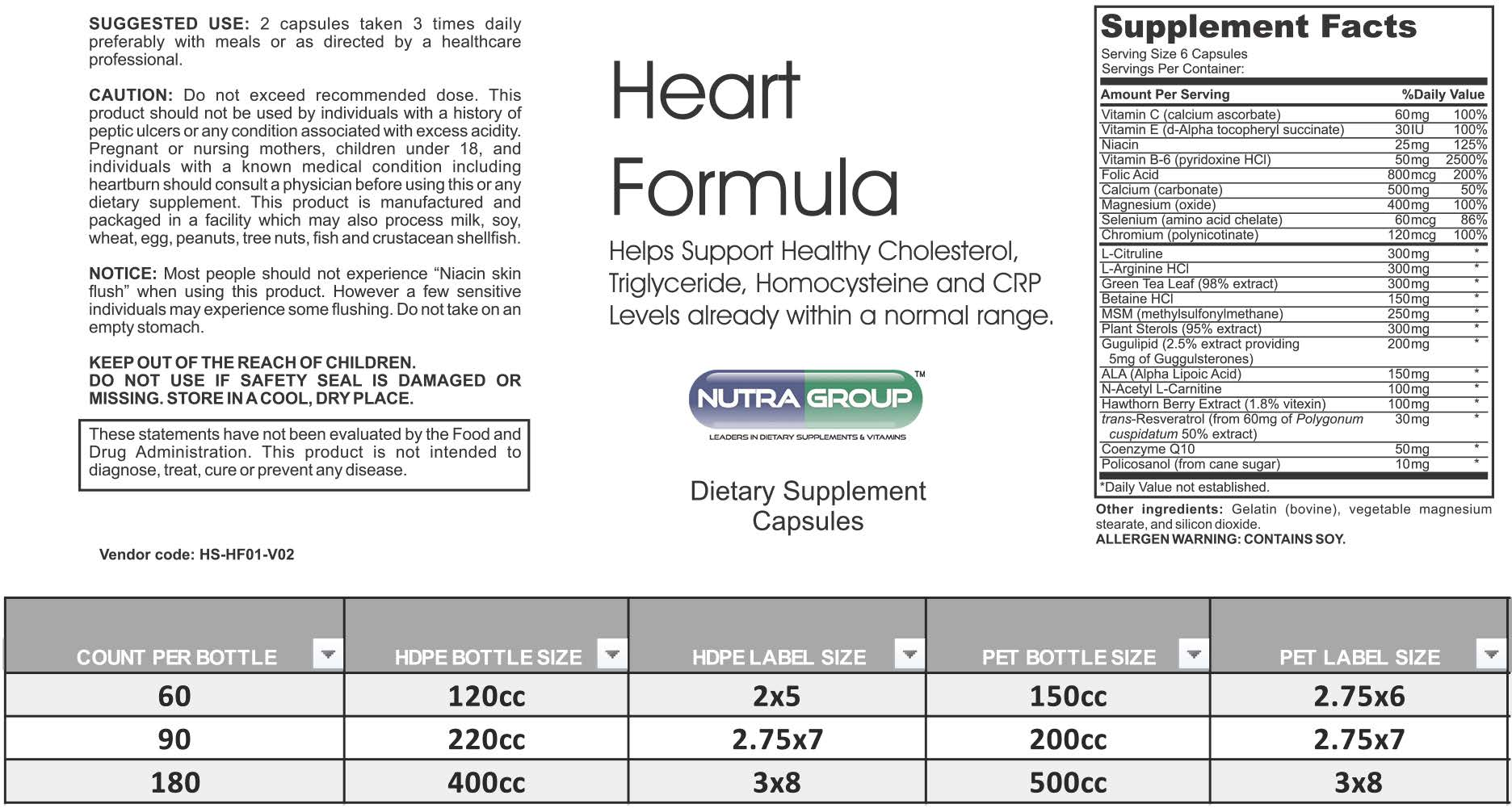 Private Label Heart Supplement