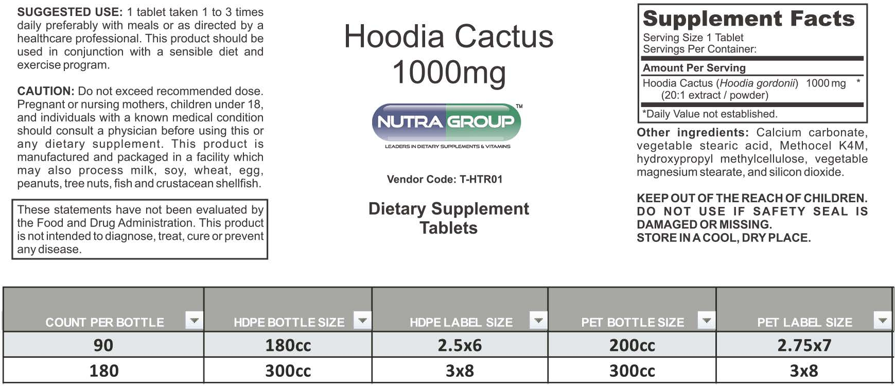 Private Label Hoodia Gordonii supplement