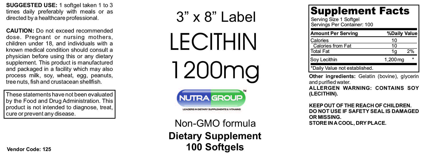 Private label lecithin supplement