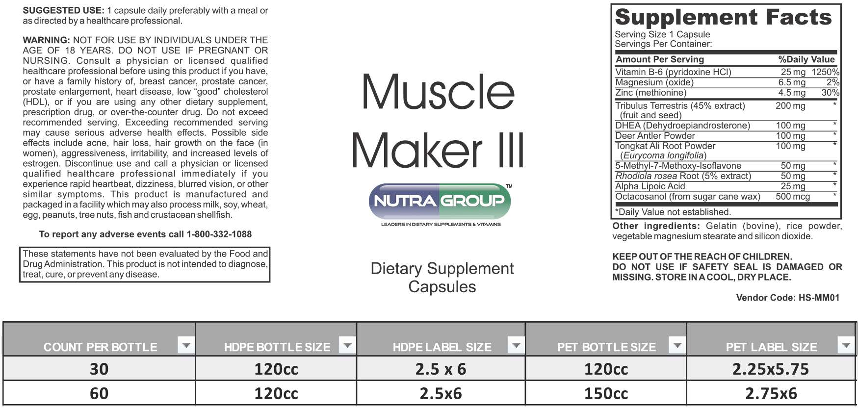 Private Label Muscle Supplement