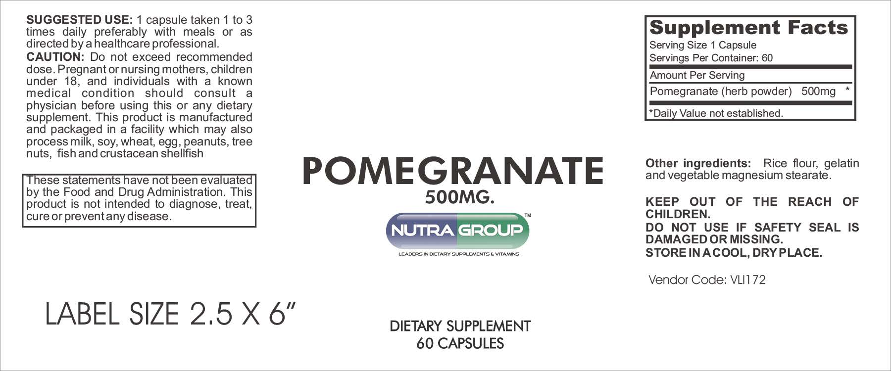 Private label Pomegranate supplement