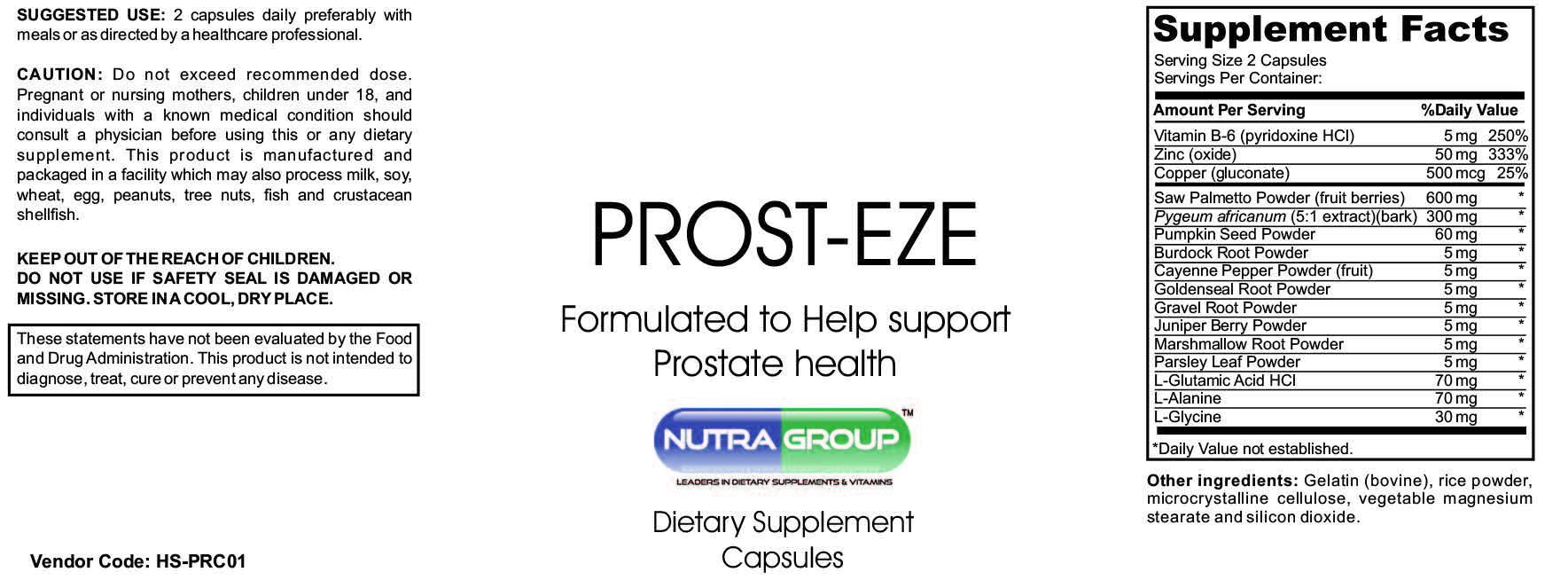 Private label prostate supplements