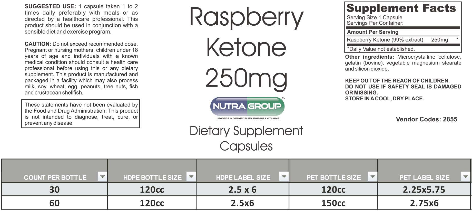 Private Label Raspberry Ketone