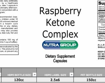 Private Label Raspberry Ketones supplement