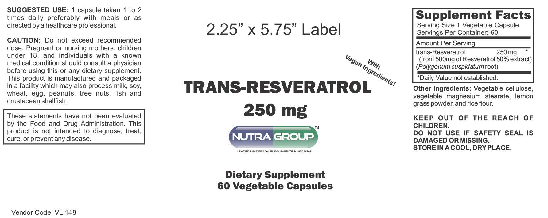 Private Label Resveratrol supplements