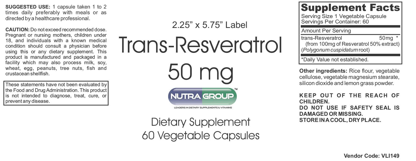 Private label Resveratrol supplement