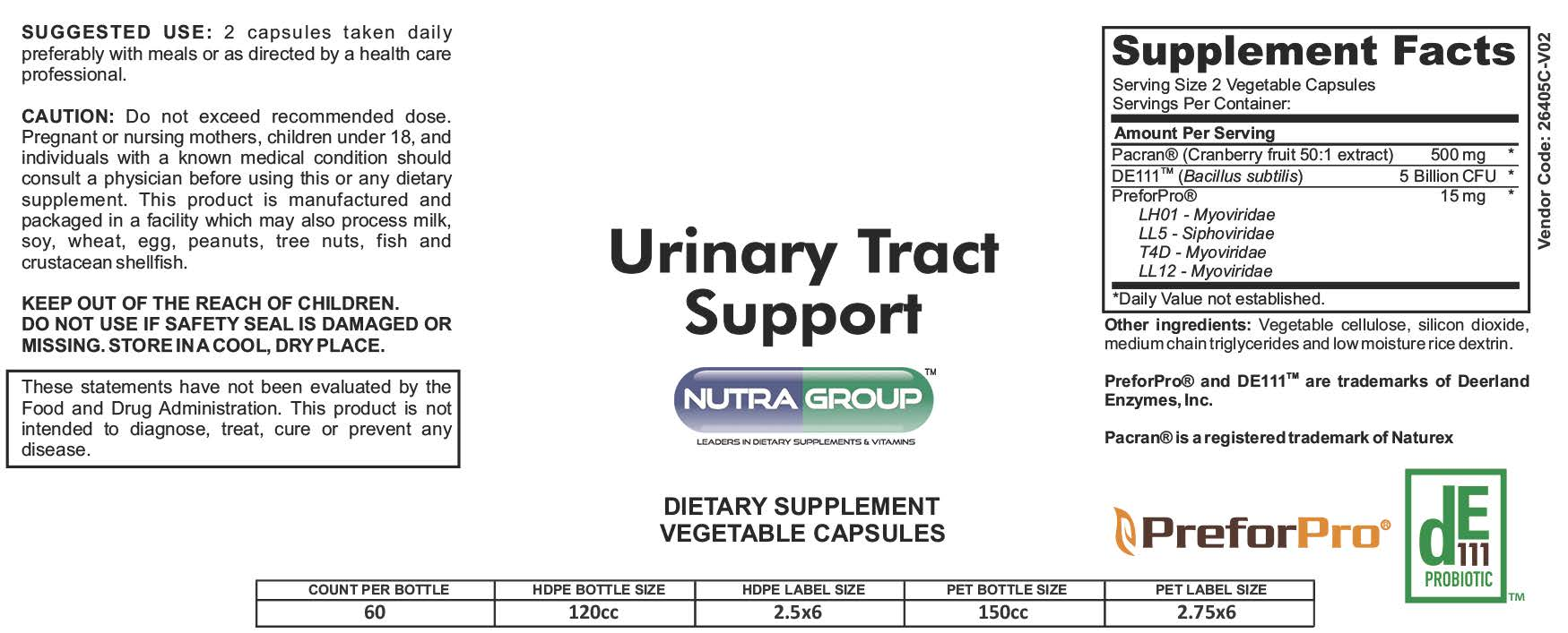 Private Label Urinary Tract Supplement