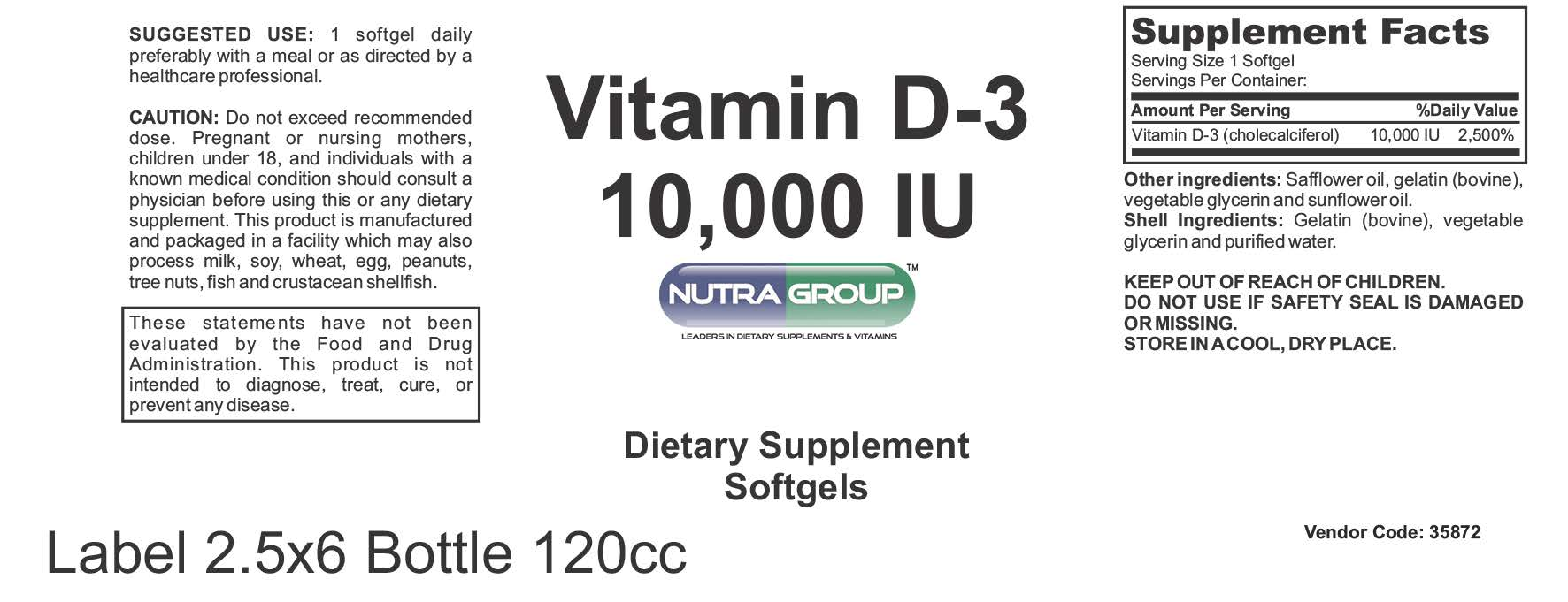 Private label Vitamin D supplement