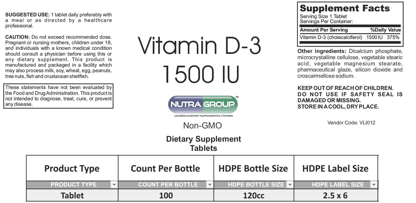 Private label Vitamin D 3 supplements