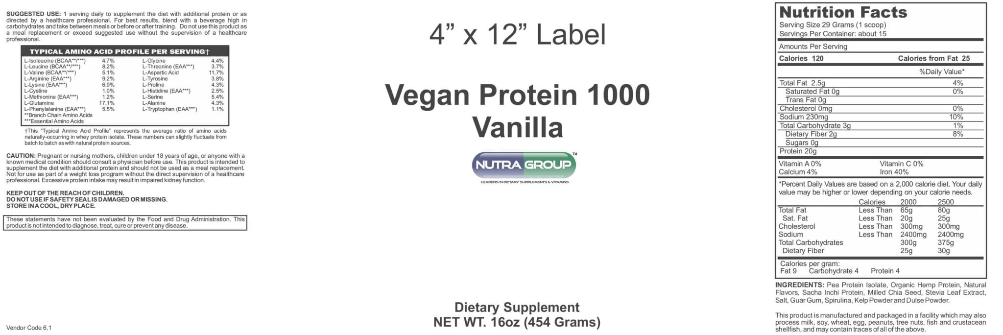 Private Label Vegetarian Protein Powder