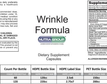 Private Label anti aging supplements for wrinkles