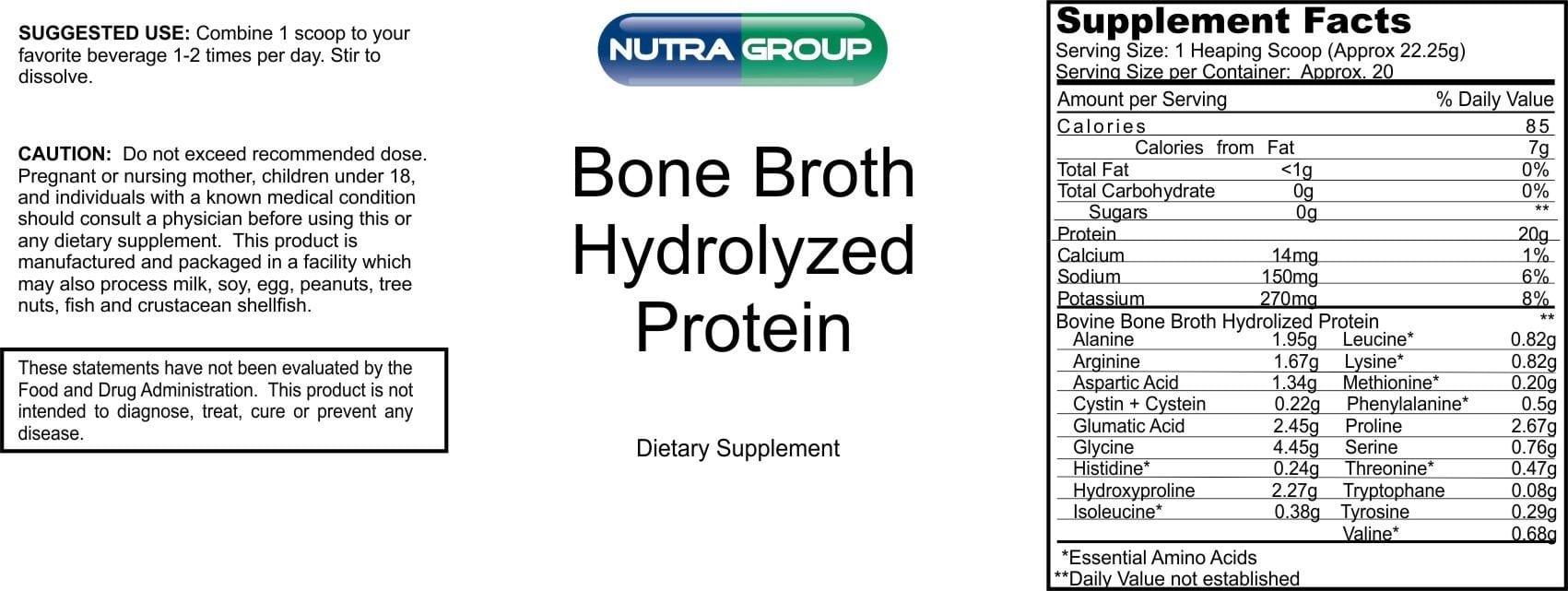 Private Label Bone Broth Hydrolyzed Protein