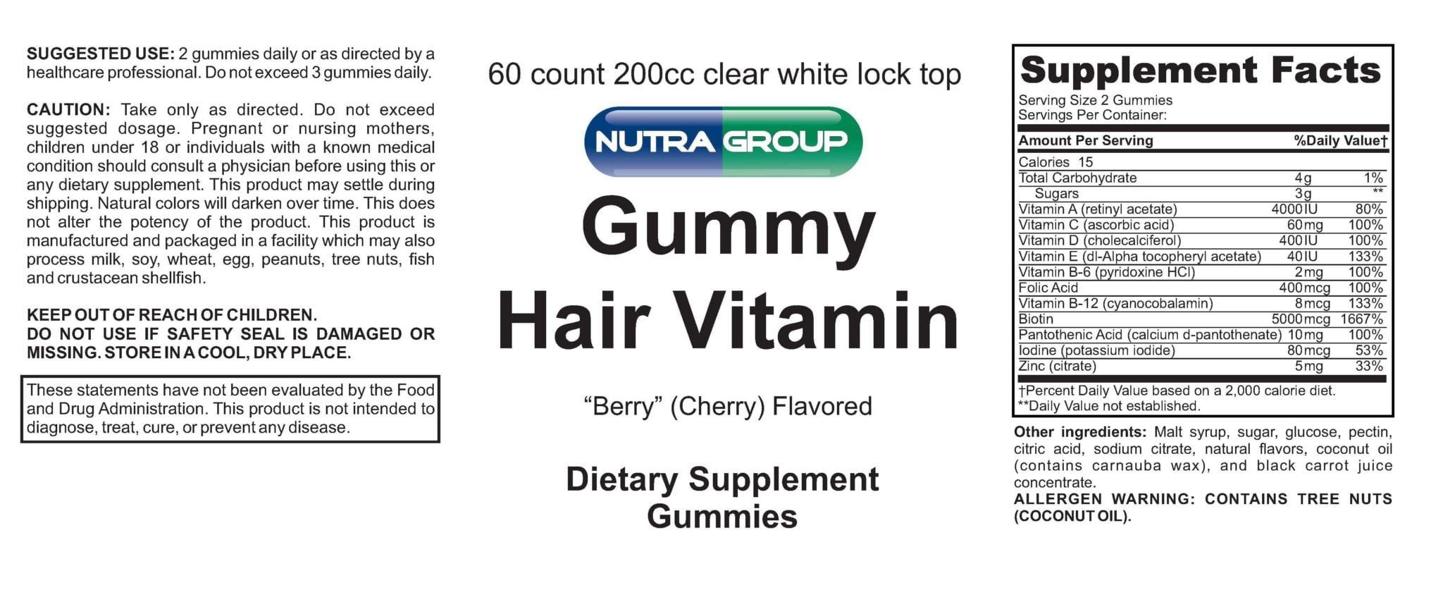Gummy Hair Vitamin For Private Label