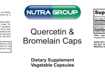 Private Label Quercetin and Bromelain Supplement