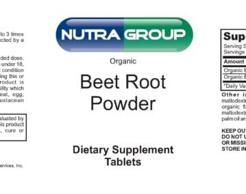 Private label organic beet root supplement